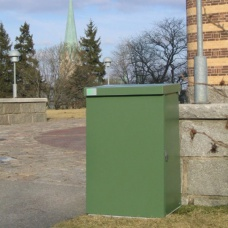 Säckhållare | Säckhållare med grön plastisol