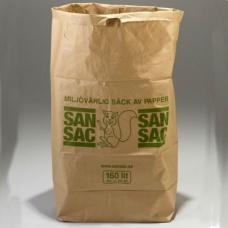 Sopsäckar | Sopsäckar av våtstarkt kraftpapper tvåbladig 160L 1500 st