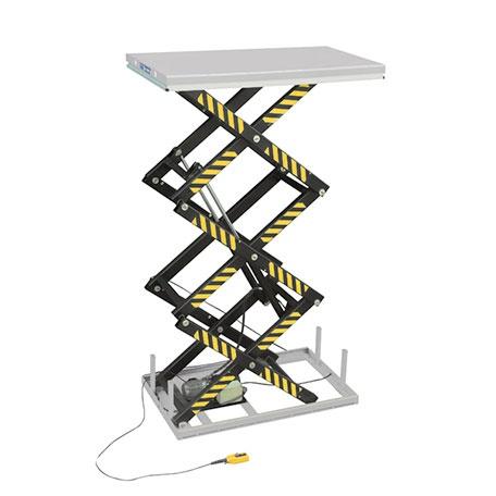 Elektriskt lyftbord | Stationärt Lyftbord, Trippelsax, 1000 kg, 1700 x 1000 mm