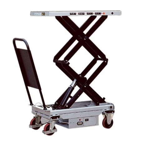 Lyftbord på hjul | Mobilt Elektriskt Lyftbord, Dubbelsax, 800 kg, 520 x 1010 mm