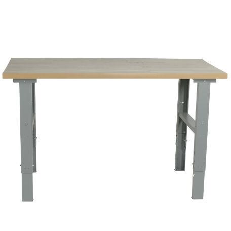Arbetsbord | Justerbart arbetsbord med ekskiva 1600-2000 mm - kapacitet 500 kg