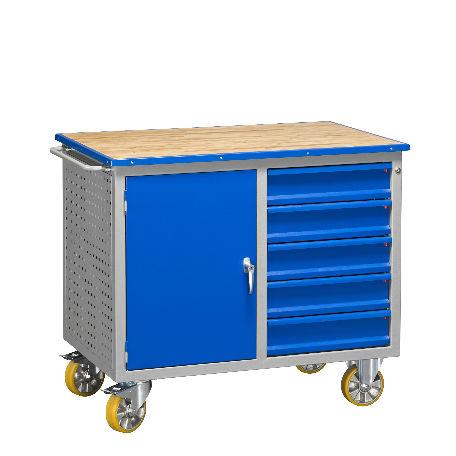 Arbetsbänk | Mobil Arbetsbänk HD 500 5 Lådor 1 Dörr