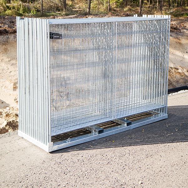Byggstängsel | 105 m Byggstängsel Runda hörn komplett kit