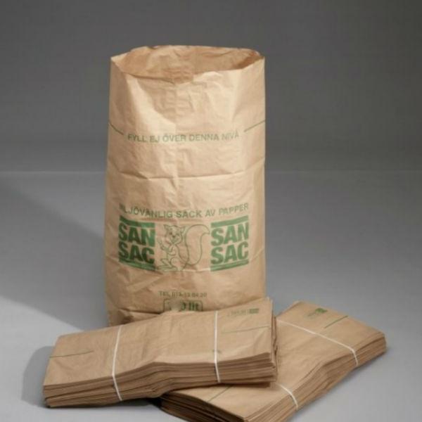 Sopsäckar | Sopsäckar av våtstarkt kraftpapper enbladig 125L 1500 st