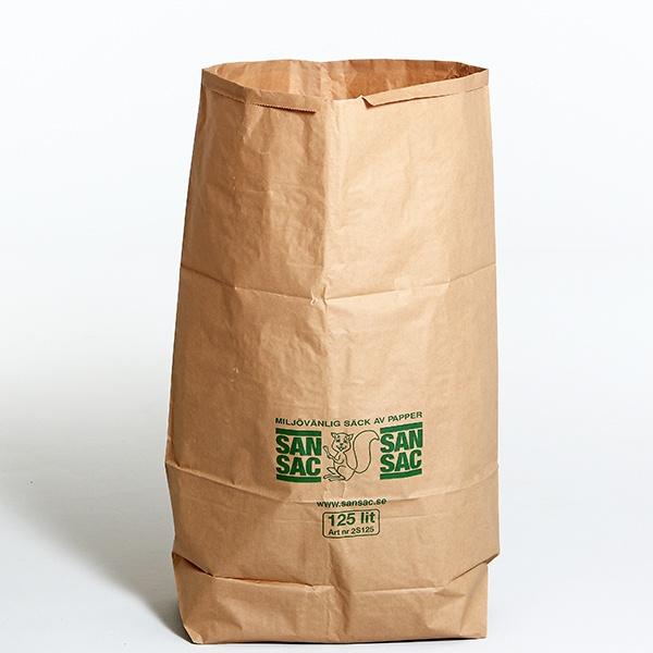 Sopsäckar | 50 st sopsäckar 125L tillverkade av våtstarkt kraftpapper