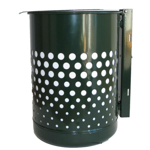 Papperskorg | Cylinder 50L med lock