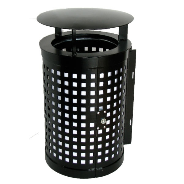 Papperskorg | Cylinder 50L med tak