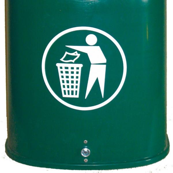 Papperskorg | Papperskorg Otto i grön plast 42L