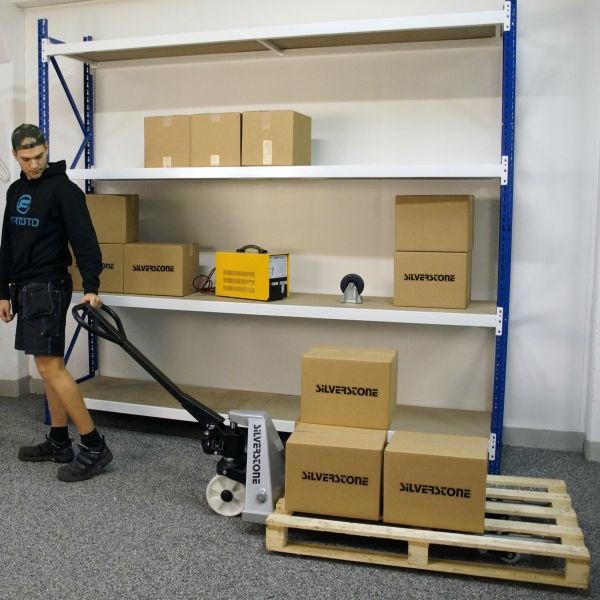 Gaffelvagn | Gaffelvagn med singelhjul i nylon 1000kg