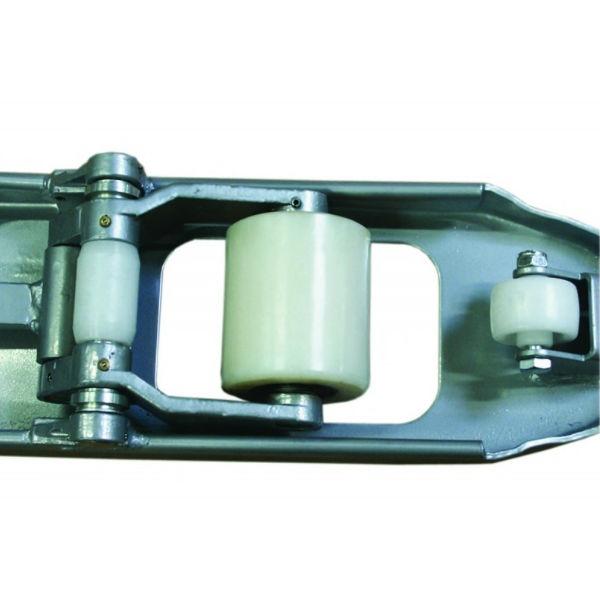 Gaffelvagn | Gaffelvagn extra bred med singelhjul i nylon 2500 kg
