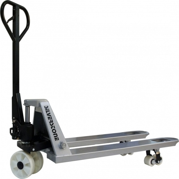 Gaffelvagn | Gaffelvagn extra lång med boogiehjul i nylon 2500kg