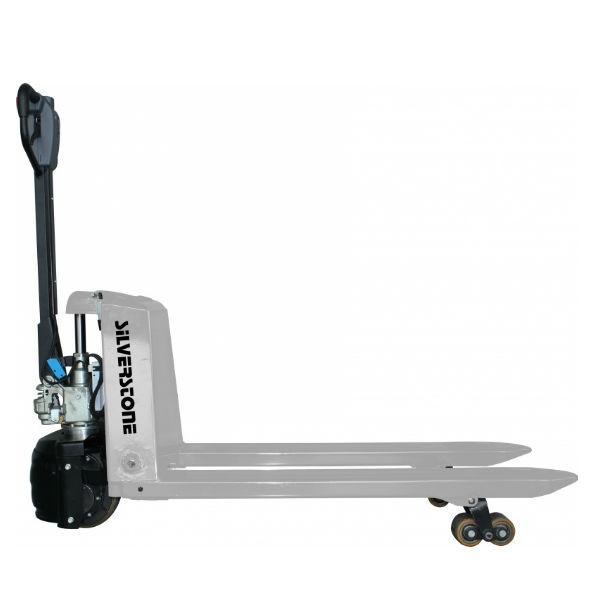 Gaffelvagn | Semielektrisk Gaffelvagn med boggiehjul i Polyuretan 1500kg