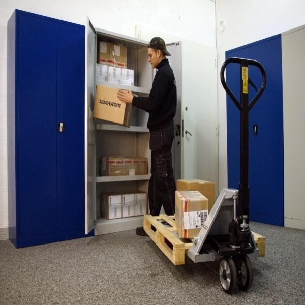 Gaffelvagn | Gaffelvagn med quick-lift och boogiehjul i nylon  2300kg