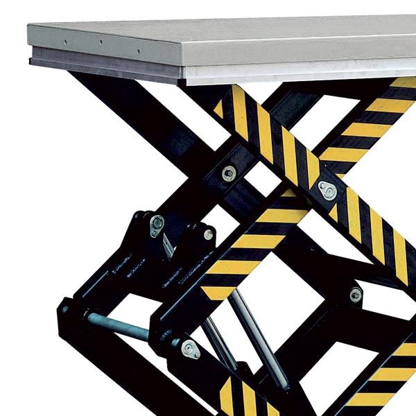 Elektriskt lyftbord | Stationärt Lyftbord, Dubbelsax, 1000 kg, 820 x 1300 mm