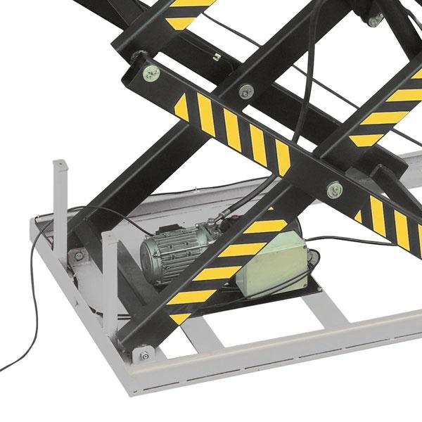 Elektriskt lyftbord   Stationärt Lyftbord, Trippelsax, 1000 kg, 1700 x 1000 mm