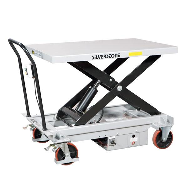 Lyftbord på hjul | Mobilt Elektriskt Lyftbord, 1000 kg, 800 x 1200 mm