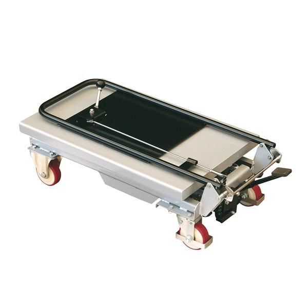 Lyftbord på hjul | Mobilt Manuellt Lyftbord, 150 kg, 450 x 700 mm