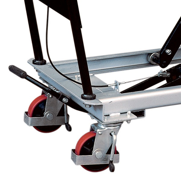 Lyftbord på hjul | Mobilt Manuellt Lyftbord, 250 kg, 500 x 830 mm