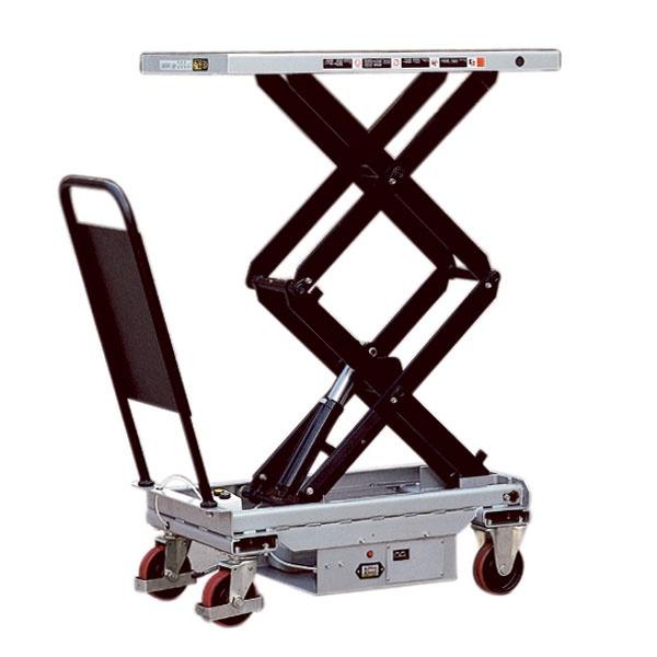 Lyftbord på hjul | Mobilt Elektriskt Lyftbord, Dubbelsax, 300 kg, 520 x 1010 mm