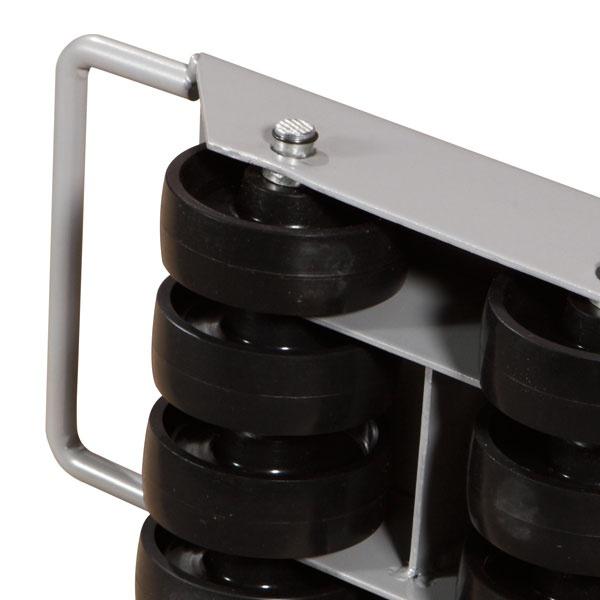 Maskinskridskor | Maskinskridsko med fasta hjul, 2000 kg