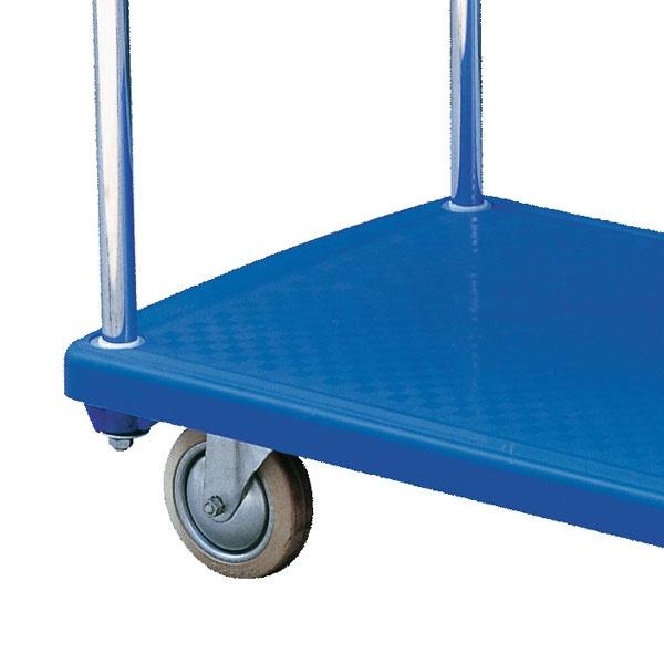 Rullvagn | Plattformsvagn i plast, dubbla hyllplan, 200 kg