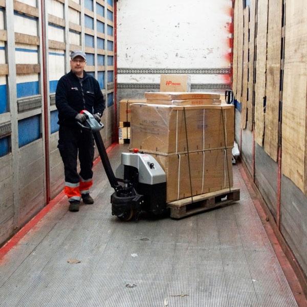 Motorlyftvagn | Fullelektrisk Motorlyftvagn, 1500 kg med våg