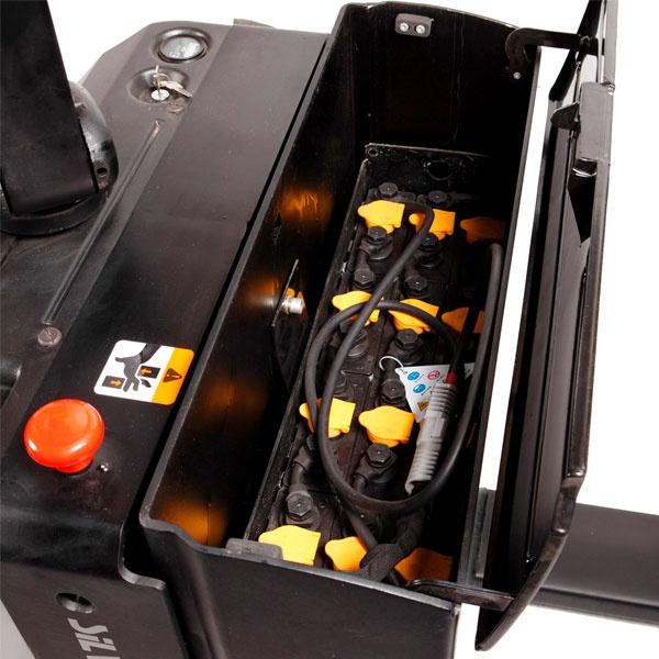 Motorlyftvagn | Fullelektrisk Motorlyftvagn med Plattform och Servostyrning, 2000 kg