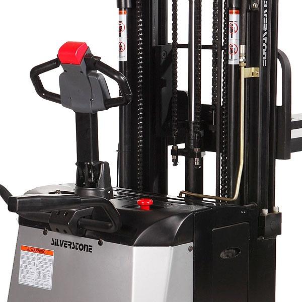 Elektriska staplare | Fullelektrisk Staplare med Åkplattform, 1400 kg, 3300 mm