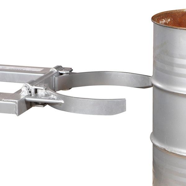 Trucktillbehör | Mekanisk Fatgripare för Gaffeltruckar, 470 kg