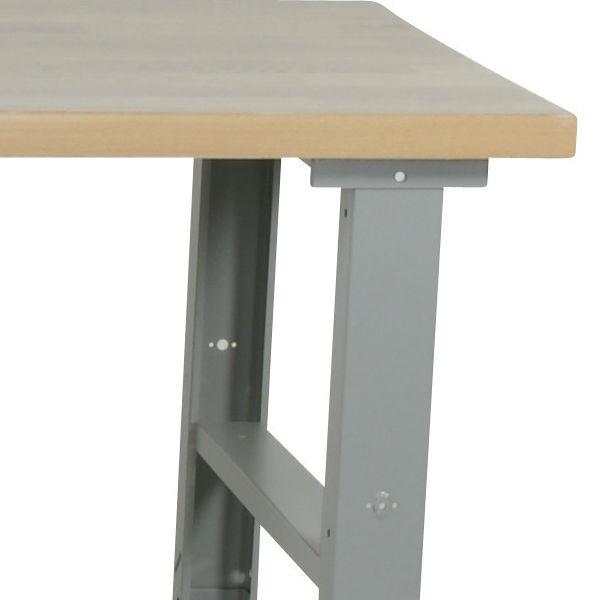 Arbetsbord | Justerbart arbetsbord med stålskiva 1600 -2000 mm - kapacitet 500 kg