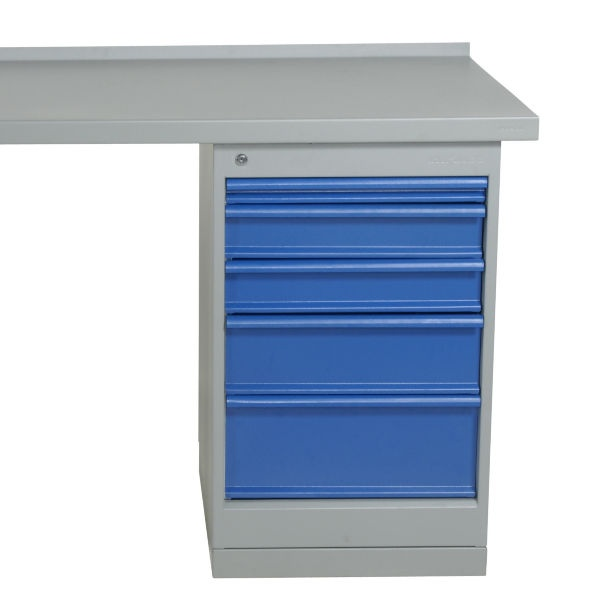Arbetsbord | Justerbart arbetsbord 1600-2000mm med ekskiva - 5 lådor