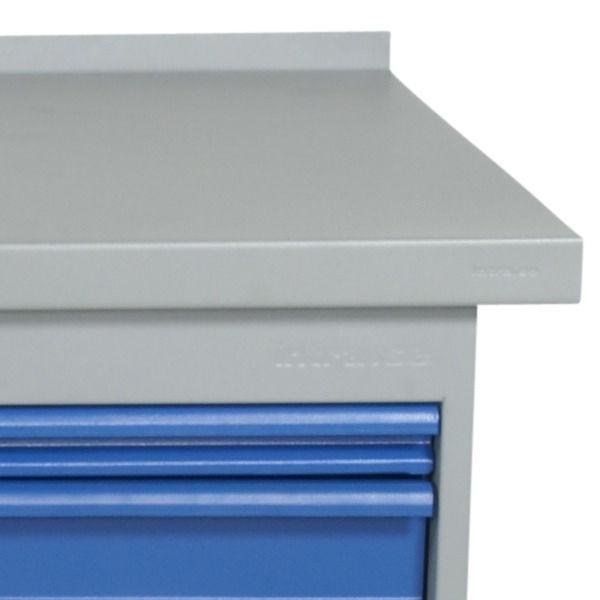 Arbetsbord | Justerbart arbetsbord 1600-2000mm med stålskiva - 5 lådor