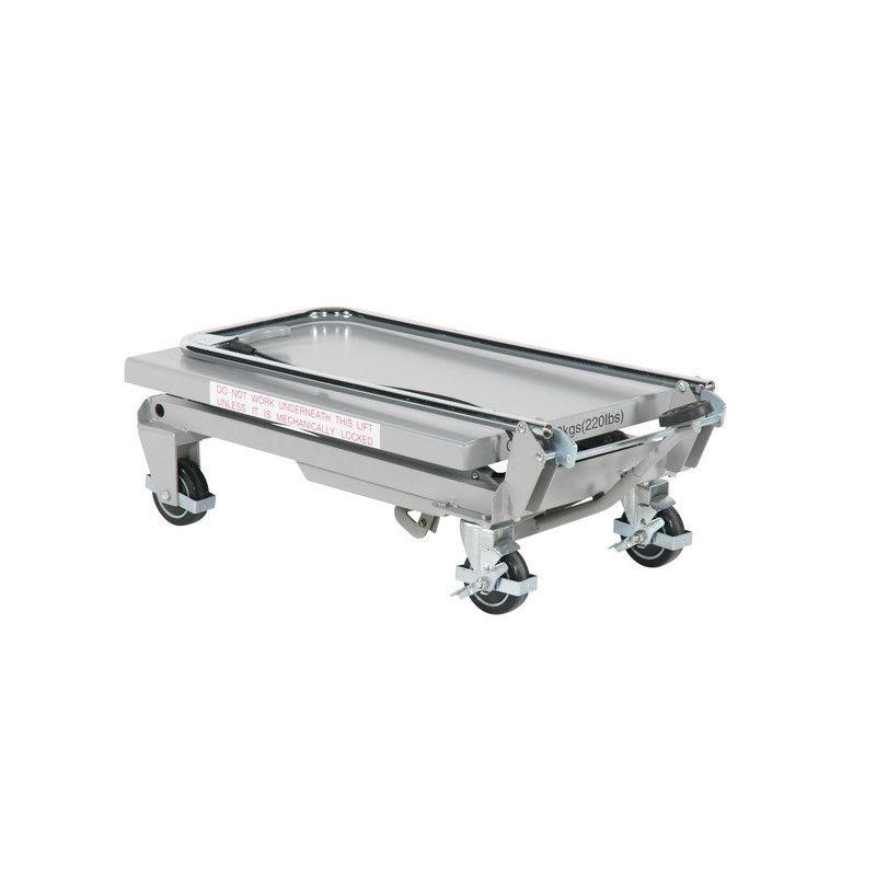 Lyftbord på hjul | Lyftbord Aluminium 100 kg