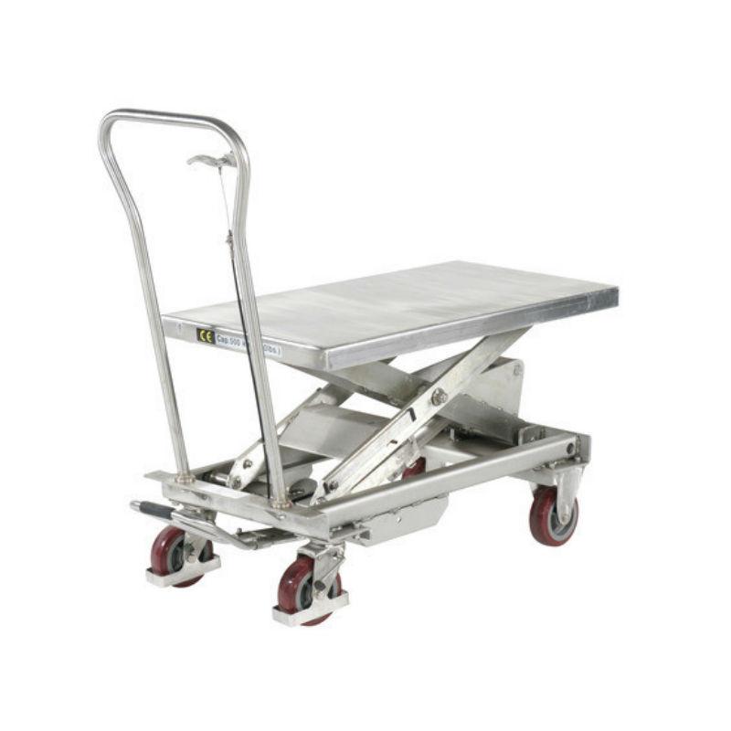 Lyftbord på hjul | Lyftbord Rostfritt 500 kg